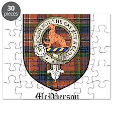 McPherson Clan Crest Tartan Puzzle