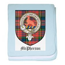 McPherson Clan Crest Tartan baby blanket