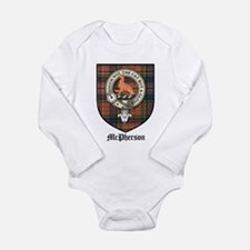 McPherson Clan Crest Tartan Long Sleeve Infant Bod