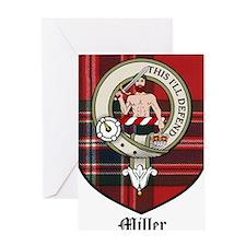 Miller Clan Crest Tartan Greeting Card