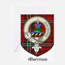 Morrison Clan Crest Tartan Greeting Card