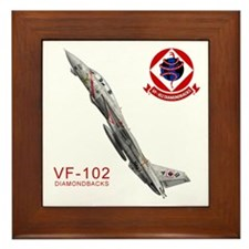 F-14 Tomcat VF-102 DIAMONDBAC Framed Tile