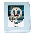 Napier Clan Crest Tartan baby blanket