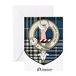 Napier Clan Crest Tartan Greeting Card
