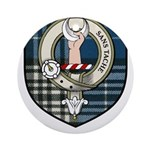 Napier Clan Crest Tartan Ornament (Round)