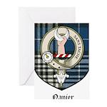 Napier Clan Crest Tartan Greeting Cards (Pk of 10)
