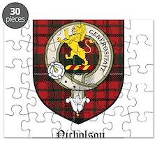 Nicholson Clan Crest Tartan Puzzle