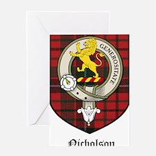 Nicholson Clan Crest Tartan Greeting Card