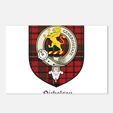 Nicholson Clan Crest Tartan Postcards (Package of