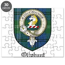 Oliphant Clan Crest Tartan Puzzle