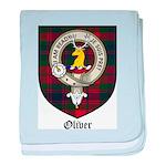 Oliver CLan Crest Tartan baby blanket