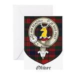 Oliver CLan Crest Tartan Greeting Cards (Pk of 20)