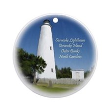 Ocracoke Island Lighthouse Christmas Ornament