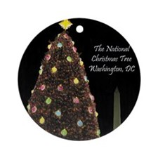 Cute Washington dc christmas Ornament (Round)