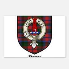 Porter Clan Crest Tartan Postcards (Package of 8)