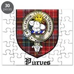 Purves Clan Crest Tartan Puzzle