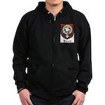 Purves Clan Crest Tartan Zip Hoodie (dark)