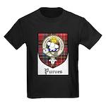 Purves Clan Crest Tartan Kids Dark T-Shirt