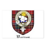 Purves Clan Crest Tartan Postcards (Package of 8)