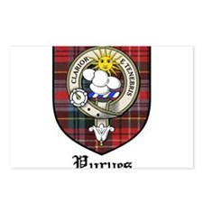 Purves Clan Crest Tartan Postcards (Package of 8)