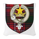 Rattray Clan Crest Tartan Woven Throw Pillow