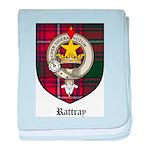 Rattray Clan Crest Tartan baby blanket