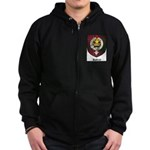 Rattray Clan Crest Tartan Zip Hoodie (dark)