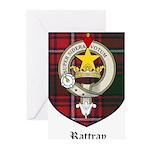 Rattray Clan Crest Tartan Greeting Cards (Pk of 20