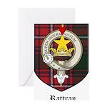 Rattray Clan Crest Tartan Greeting Card