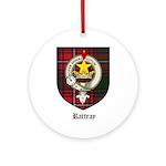 Rattray Clan Crest Tartan Ornament (Round)