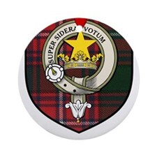 Rattray Clan Crest Tartan Ornament (Round)