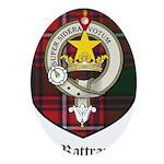 Rattray Clan Crest Tartan Ornament (Oval)