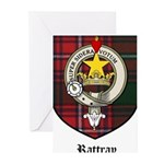 Rattray Clan Crest Tartan Greeting Cards (Pk of 10