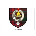 Rattray Clan Crest Tartan Postcards (Package of 8)