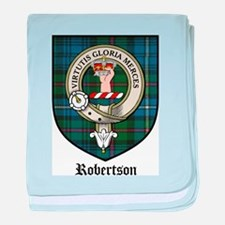 Robertson Clan Crest Tartan baby blanket