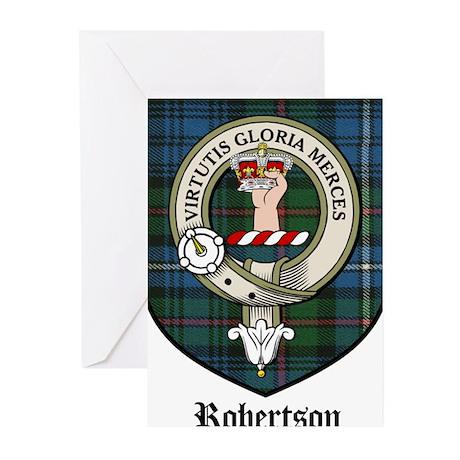 Robertson Clan Crest Tartan Greeting Cards (Pk of