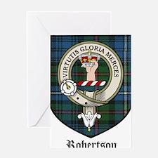 Robertson Clan Crest Tartan Greeting Card