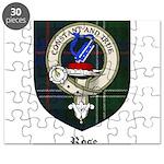 Rose Clan Crest Tartan Puzzle