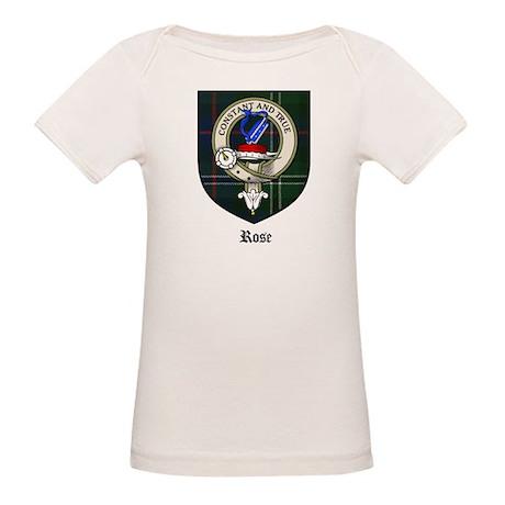 Rose Clan Crest Tartan Organic Baby T-Shirt
