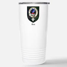 Rose Clan Crest Tartan Travel Mug