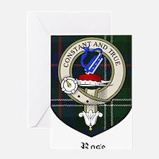 Rose Clan Crest Tartan Greeting Card