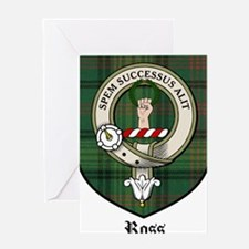 Ross Clan Crest Tartan Greeting Card