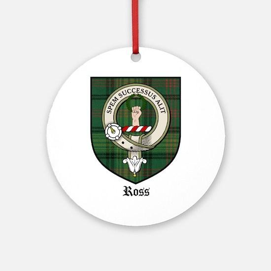 Ross Clan Crest Tartan Ornament (Round)