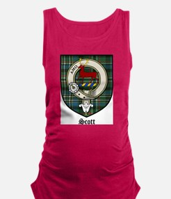 Scott Clan Crest Tartan Maternity Tank Top
