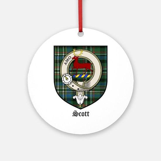 Scott Clan Crest Tartan Ornament (Round)
