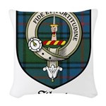 Shaw Clan Crest Tartan Woven Throw Pillow