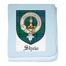 Shaw Clan Crest Tartan baby blanket