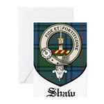 Shaw Clan Crest Tartan Greeting Cards (Pk of 20)