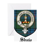Shaw Clan Crest Tartan Greeting Card