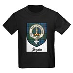 Shaw Clan Crest Tartan Kids Dark T-Shirt